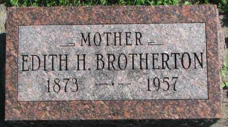 BROTHERTON, EDITH H. - Dakota County, Nebraska | EDITH H. BROTHERTON - Nebraska Gravestone Photos