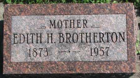 BROTHERTON, EDITH H. - Dakota County, Nebraska   EDITH H. BROTHERTON - Nebraska Gravestone Photos