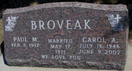 BROVEAK, PAUL M. - Dakota County, Nebraska | PAUL M. BROVEAK - Nebraska Gravestone Photos