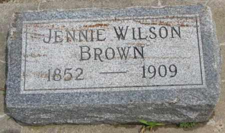 BROWN, JENNIE - Dakota County, Nebraska   JENNIE BROWN - Nebraska Gravestone Photos