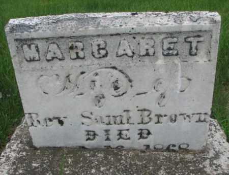 BROWN, MARGARET - Dakota County, Nebraska | MARGARET BROWN - Nebraska Gravestone Photos