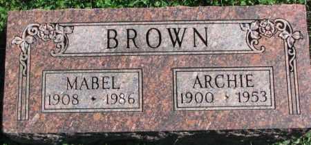 BROWN, ARCHIE - Dakota County, Nebraska | ARCHIE BROWN - Nebraska Gravestone Photos
