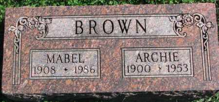 BROWN, ARCHIE - Dakota County, Nebraska | ARCHIE BROWN - Nebraska Gravestone Photos