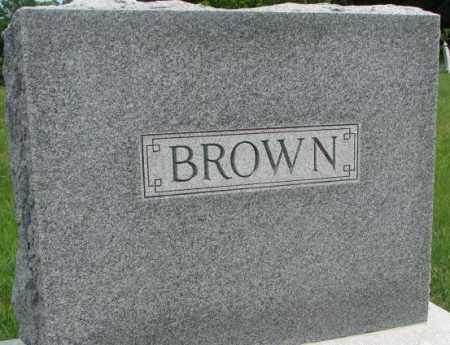 BROWN, PLOT - Dakota County, Nebraska | PLOT BROWN - Nebraska Gravestone Photos
