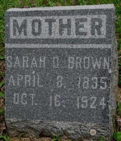 BROWN, SARAH D. - Dakota County, Nebraska | SARAH D. BROWN - Nebraska Gravestone Photos