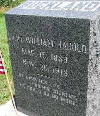 BUCKLAND, WILLIAM HAROLD - Dakota County, Nebraska | WILLIAM HAROLD BUCKLAND - Nebraska Gravestone Photos