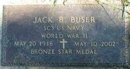 BUSER, JACK B. - Dakota County, Nebraska | JACK B. BUSER - Nebraska Gravestone Photos
