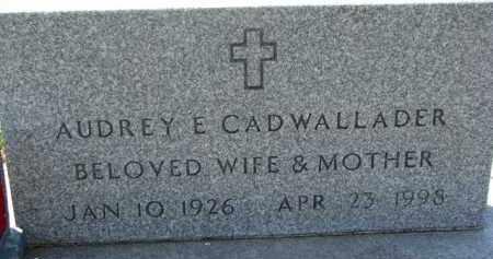 CADWALLADER, AUDREY E. - Dakota County, Nebraska | AUDREY E. CADWALLADER - Nebraska Gravestone Photos
