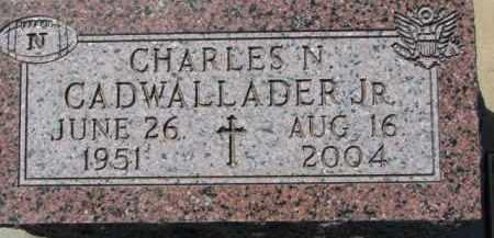 CADWALLADER, CHARLES N. JR. - Dakota County, Nebraska | CHARLES N. JR. CADWALLADER - Nebraska Gravestone Photos