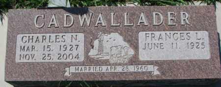CADWALLADER, FRANCES L. - Dakota County, Nebraska | FRANCES L. CADWALLADER - Nebraska Gravestone Photos