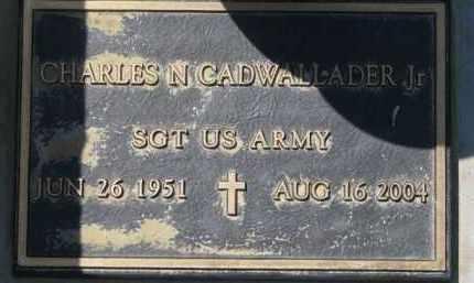 CADWALLADER, CHARLES N. (MILITARY MARKER) - Dakota County, Nebraska | CHARLES N. (MILITARY MARKER) CADWALLADER - Nebraska Gravestone Photos