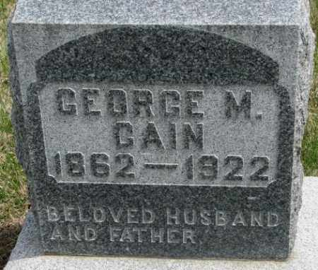 CAIN, GEORGE M. - Dakota County, Nebraska | GEORGE M. CAIN - Nebraska Gravestone Photos