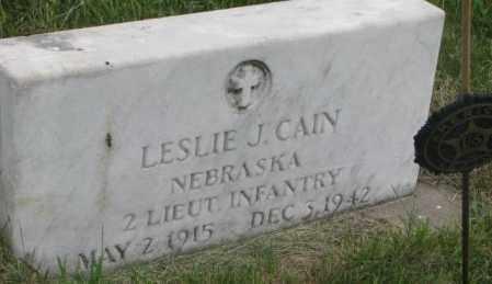 CAIN, LESLIE J. - Dakota County, Nebraska | LESLIE J. CAIN - Nebraska Gravestone Photos