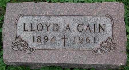CAIN, LLOYD A. - Dakota County, Nebraska | LLOYD A. CAIN - Nebraska Gravestone Photos