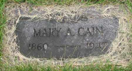CAIN, MARY A. - Dakota County, Nebraska | MARY A. CAIN - Nebraska Gravestone Photos