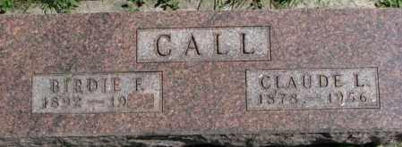 CALL, CLAUDE L. - Dakota County, Nebraska | CLAUDE L. CALL - Nebraska Gravestone Photos