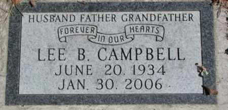 CAMPBELL, LEE B. - Dakota County, Nebraska | LEE B. CAMPBELL - Nebraska Gravestone Photos