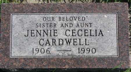 CARDWELL, JENNIE CECELIA - Dakota County, Nebraska | JENNIE CECELIA CARDWELL - Nebraska Gravestone Photos