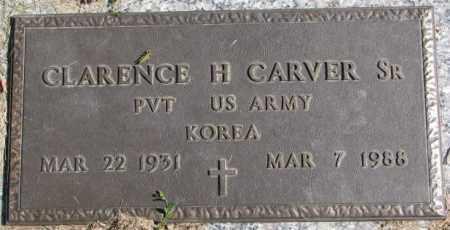 CARVER, CLARENCE H. SR. - Dakota County, Nebraska   CLARENCE H. SR. CARVER - Nebraska Gravestone Photos