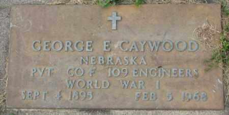CAYWOOD, GEORGE E. - Dakota County, Nebraska   GEORGE E. CAYWOOD - Nebraska Gravestone Photos