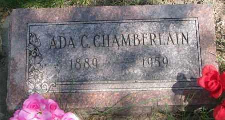 CHAMBERLAIN, ADA C. - Dakota County, Nebraska | ADA C. CHAMBERLAIN - Nebraska Gravestone Photos