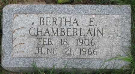 CHAMBERLAIN, BERTHA E. - Dakota County, Nebraska   BERTHA E. CHAMBERLAIN - Nebraska Gravestone Photos