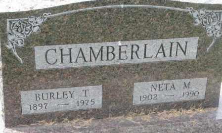 CHAMBERLAIN, BURLEY T. - Dakota County, Nebraska   BURLEY T. CHAMBERLAIN - Nebraska Gravestone Photos