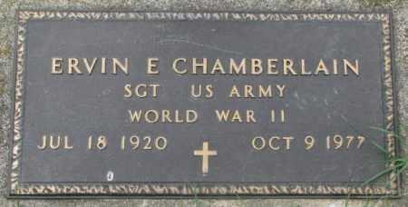 CHAMBERLAIN, ERVIN E. - Dakota County, Nebraska | ERVIN E. CHAMBERLAIN - Nebraska Gravestone Photos