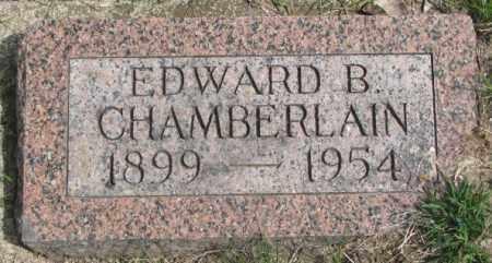 CHAMBERLAIN, EDWARD B. - Dakota County, Nebraska | EDWARD B. CHAMBERLAIN - Nebraska Gravestone Photos