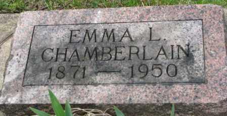 CHAMBERLAIN, EMMA L. - Dakota County, Nebraska | EMMA L. CHAMBERLAIN - Nebraska Gravestone Photos