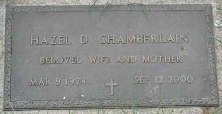 CHAMBERLAIN, HAZEL D. - Dakota County, Nebraska | HAZEL D. CHAMBERLAIN - Nebraska Gravestone Photos