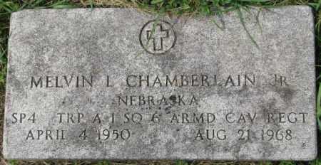 CHAMBERLAIN, MELVIN L. JR. - Dakota County, Nebraska   MELVIN L. JR. CHAMBERLAIN - Nebraska Gravestone Photos
