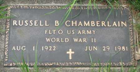 CHAMBERLAIN, RUSSELL B. - Dakota County, Nebraska | RUSSELL B. CHAMBERLAIN - Nebraska Gravestone Photos