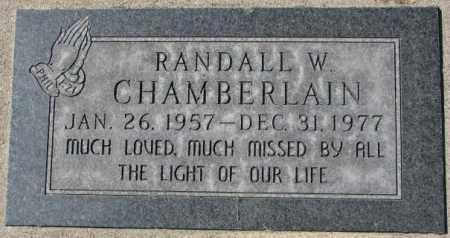 CHAMBERLAIN, RANDALL W. - Dakota County, Nebraska   RANDALL W. CHAMBERLAIN - Nebraska Gravestone Photos