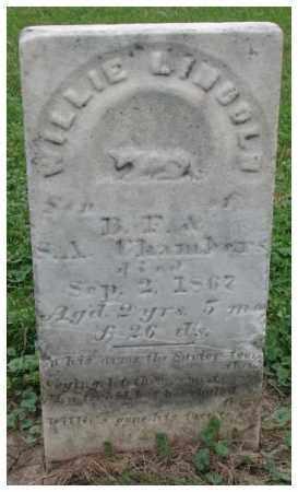 CHAMBERS, WILLIE LINCOLN - Dakota County, Nebraska | WILLIE LINCOLN CHAMBERS - Nebraska Gravestone Photos