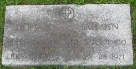 CHAPMAN, DONALD L. - Dakota County, Nebraska   DONALD L. CHAPMAN - Nebraska Gravestone Photos