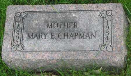 CHAPMAN, MARY E. - Dakota County, Nebraska | MARY E. CHAPMAN - Nebraska Gravestone Photos