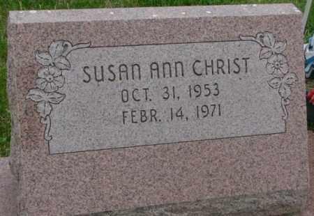 CHRIST, SUSAN ANN - Dakota County, Nebraska | SUSAN ANN CHRIST - Nebraska Gravestone Photos