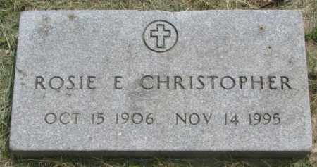 CHRISTOPHER, ROSIE E. - Dakota County, Nebraska | ROSIE E. CHRISTOPHER - Nebraska Gravestone Photos
