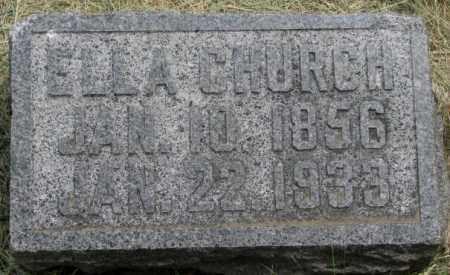 CHURCH, ELLA - Dakota County, Nebraska | ELLA CHURCH - Nebraska Gravestone Photos