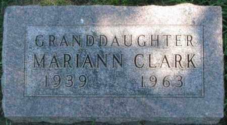 CLARK, MARIANN - Dakota County, Nebraska | MARIANN CLARK - Nebraska Gravestone Photos