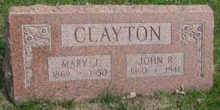 CLAYTON, JOHN R. - Dakota County, Nebraska   JOHN R. CLAYTON - Nebraska Gravestone Photos