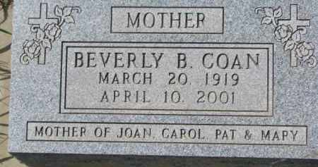 COAN, BEVERLY B. - Dakota County, Nebraska | BEVERLY B. COAN - Nebraska Gravestone Photos
