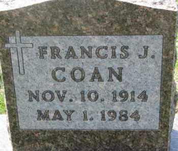 COAN, FRANCIS J. - Dakota County, Nebraska | FRANCIS J. COAN - Nebraska Gravestone Photos