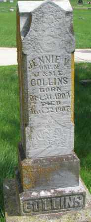 COLLINS, JENNIE V. - Dakota County, Nebraska | JENNIE V. COLLINS - Nebraska Gravestone Photos