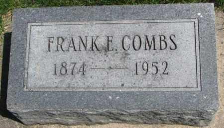 COMBS, FRANK E. - Dakota County, Nebraska | FRANK E. COMBS - Nebraska Gravestone Photos