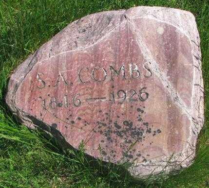 COMBS, S.A. - Dakota County, Nebraska   S.A. COMBS - Nebraska Gravestone Photos