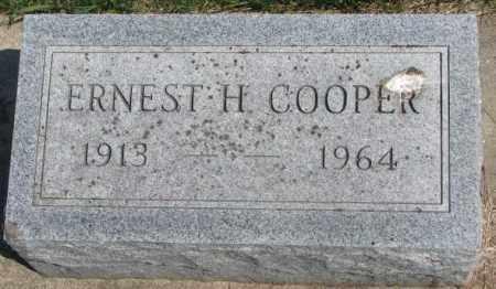 COOPER, ERNEST H. - Dakota County, Nebraska | ERNEST H. COOPER - Nebraska Gravestone Photos