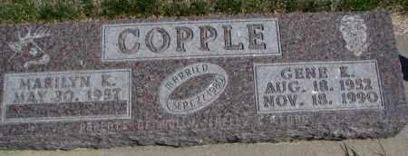 COPPLE, GENE K. - Dakota County, Nebraska | GENE K. COPPLE - Nebraska Gravestone Photos