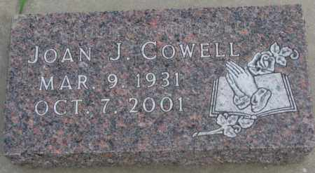 COWELL, JOAN J. - Dakota County, Nebraska | JOAN J. COWELL - Nebraska Gravestone Photos